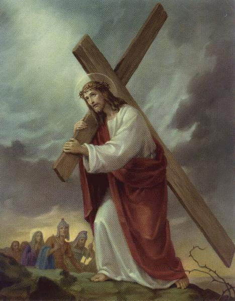 jesus carrying cross